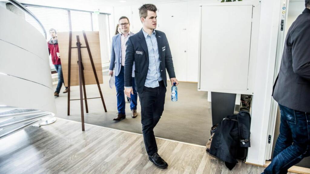 SIKRET SEIEREN:  Magnus Carlsen.  Foto: Thomas  Rasmus Skaug / Dagbladet