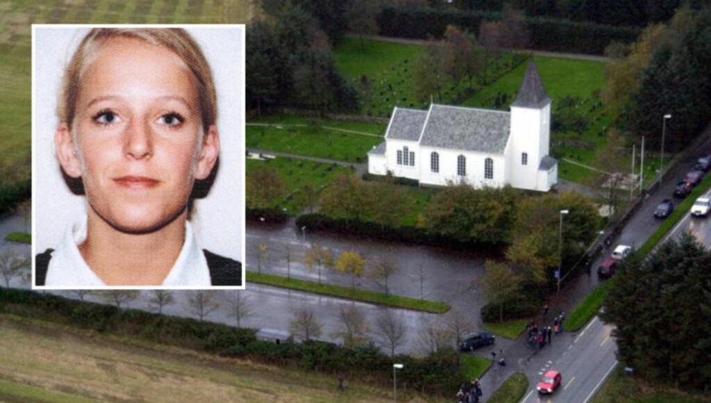 15 ÅR GAMMEL DRAPSSAK: Tre uker etter at Tina Jørgensen (20) forsvant, 24. september 2000, ble hun ved en tilfeldighet funnet i en dreneringskum ved Bore kirke. Obduksjonen viste at hun ble slått i hjel.  Foto: ERLING HÆGELAND / Privat