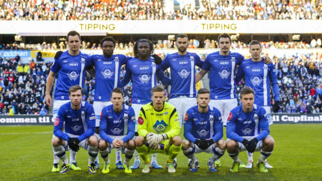 FEM: Hele fem av disse som startet cupfinalen mot Rosenborg i 2013 ligger an til å starte kveldens landskamp mot Italia.  Foto: Fredrik Varfjell / NTB scanpix