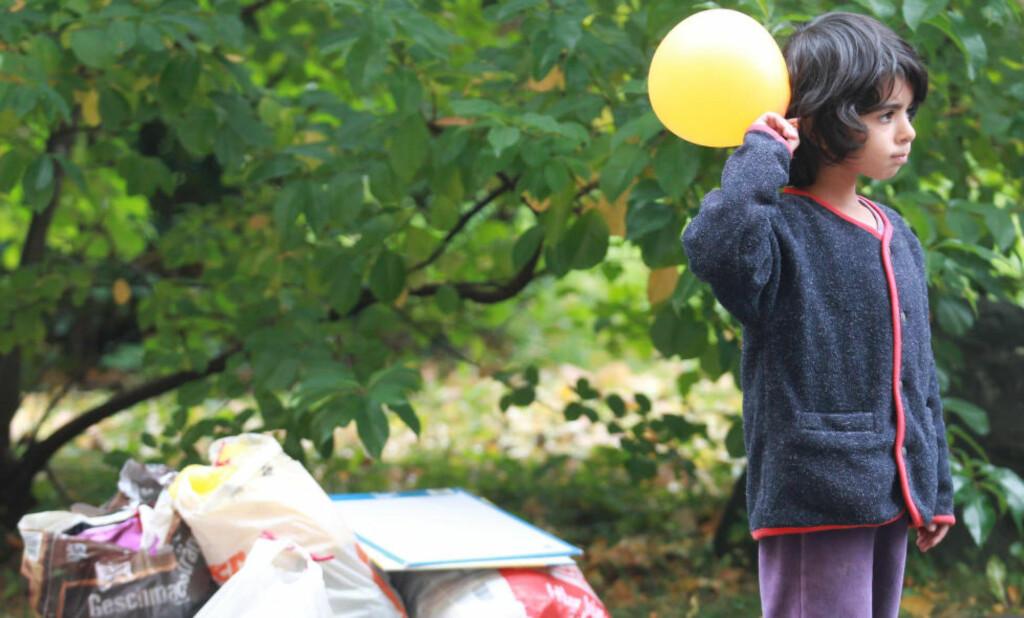 TAR IKKE INN BARN:  Norske kommuner ønsker ikke å bosette flyktningbarn, skal en tro NRK. Her et barn fra Syria i den tyske byen Gera.Foto: BODO SCHACKOW/DPA