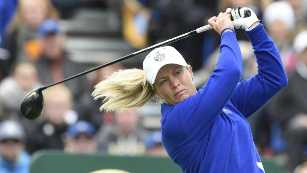 GÅR FOR SEIER: Suzann Pettersen håper å ta med seg det gode spillet fra helgen i forrige ukes turnering når golfstjernen går for sin tredje seier i Sør-Korea. Foto: AP Photo/Jens Meyer
