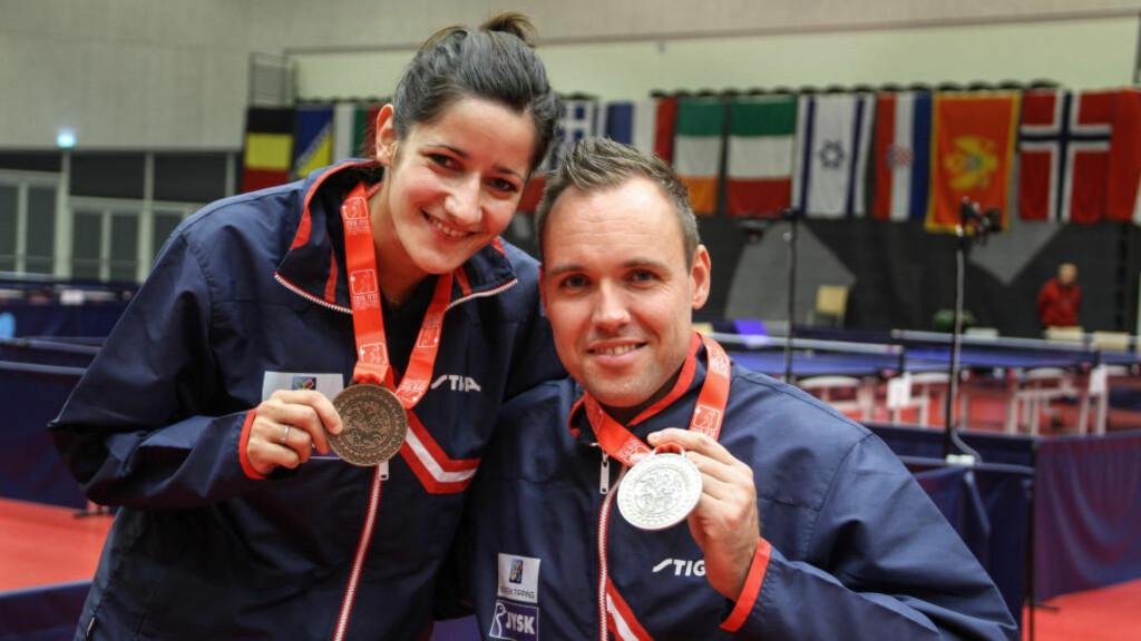 KLAR FOR RIO:  EM-gull til både Aida Dahlen og Tommy Urhaug. Bordtennis blir en sterk norsk øvelse i Paralympics i Rio neste sommer. FOTO: Caroline Dokken Wendelborg/NIF.