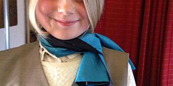 image: Da Linnea (9)  reiste alene fikk hun være flyvertinne