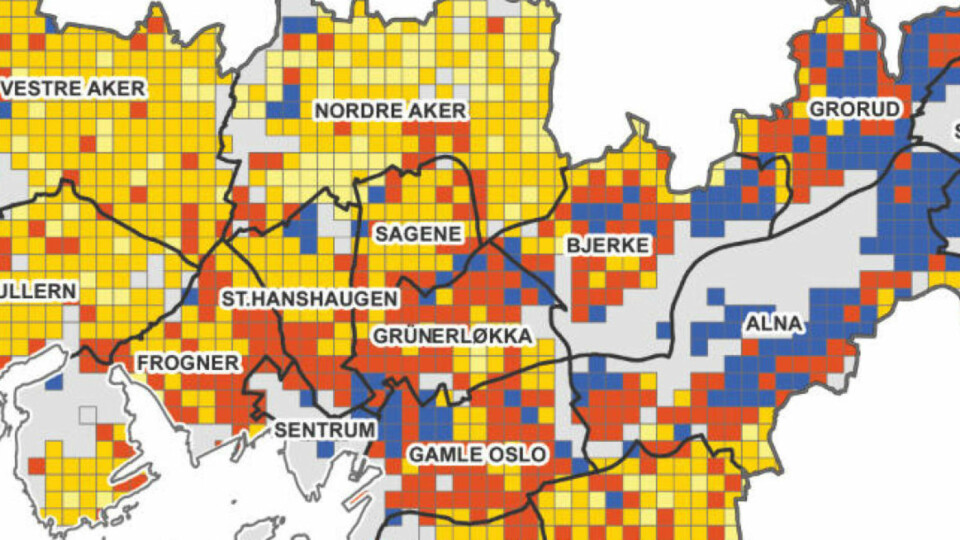 Dette Kartet Viser Okningen I Andel Innvandrere I Oslo Dagbladet