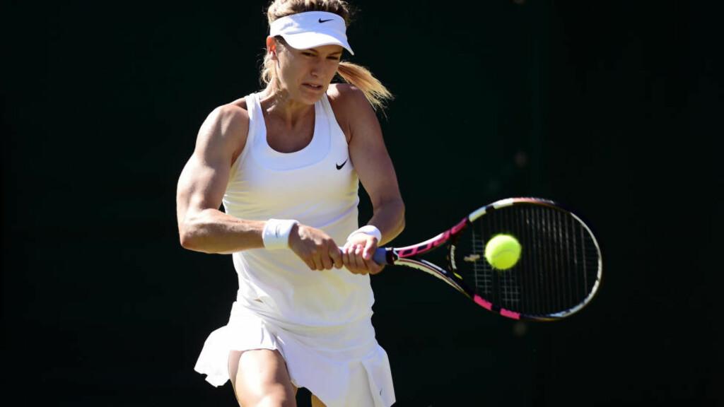 SAKSØKER: Canadiske Eugenie Bouchard falt i garderoben og slo hodet sitt kraftig under US Open i tennis. Nå går hun til sak mot arrangøren.