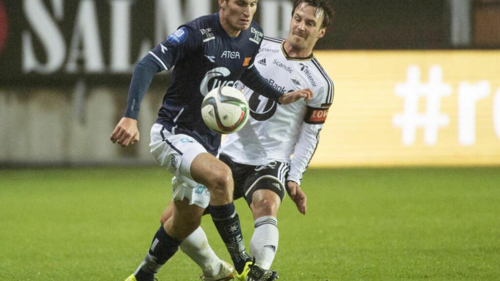 TILBAKE: Mike Jensen er i full trening etter blindtarmoperasjonen. Dansken regner med å være klar til Rosenborgs kamp mot Bodø/Glimt søndag. Foto: Ned Alley / NTB scanpix