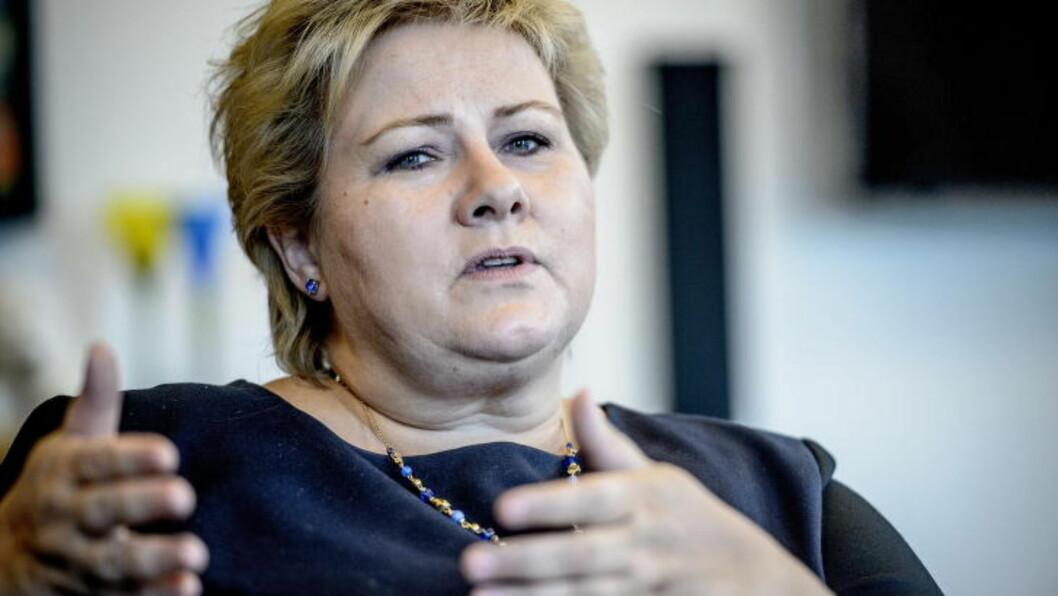 <strong>SVARER PÅ BREV:</strong>  Statsminister Erna Solberg. Foto: Thomas Rasmus Skaug / Dagbladet