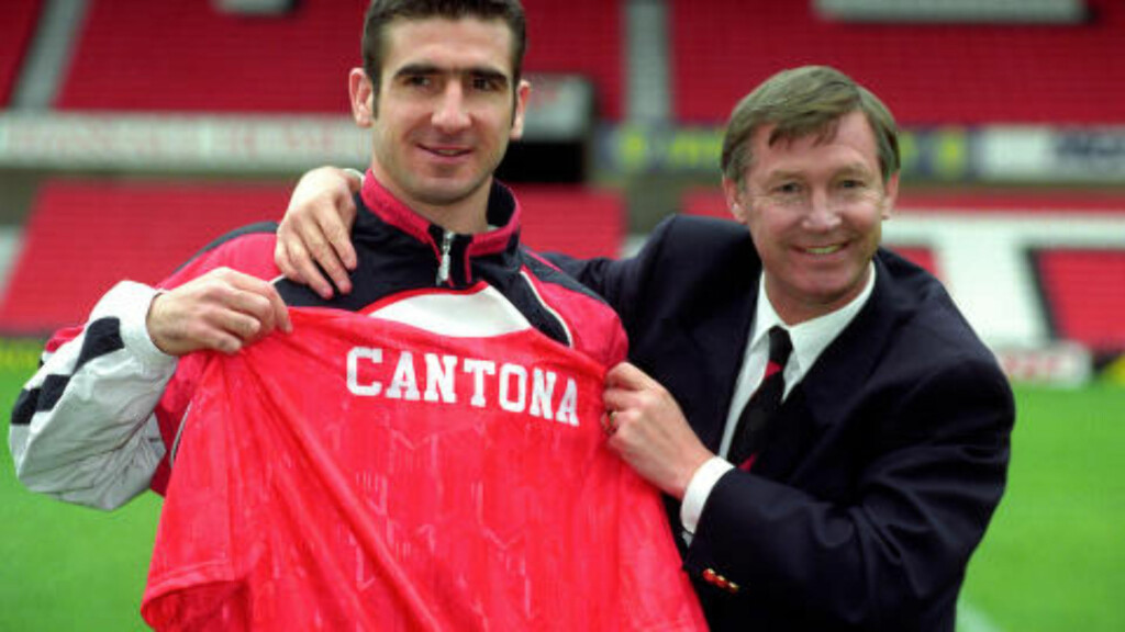 UNITED-SPILLER: Eric Cantona signerte for Manchester United i 1992 - og skapte seg legendestatus på fotballøya i løpet av de neste fem sesongene. Foto: Malcolm Croft/PA Wire.