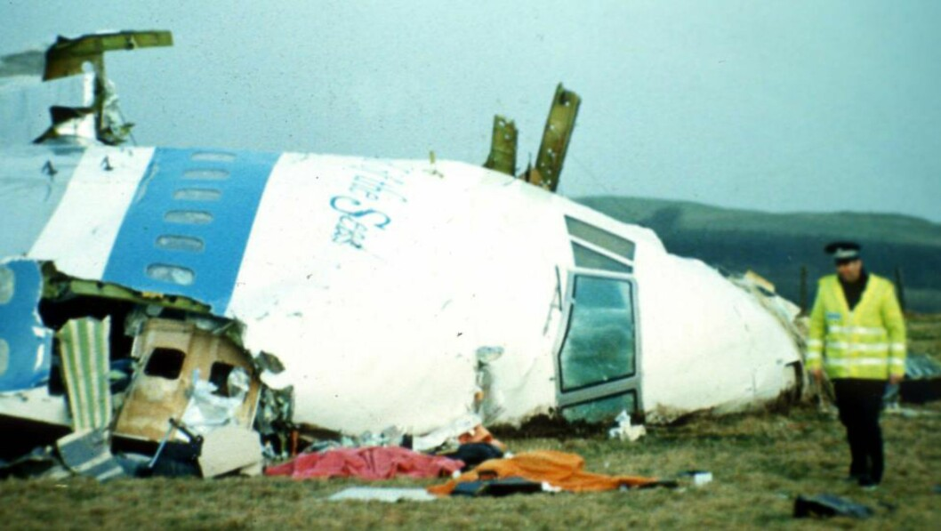 STYRTET 21. DESEMBER 1988:  270 omkom da Pan Ams fly 103 fra London til New York styrtet i den skotske byen Lockerbie. Foto: AP