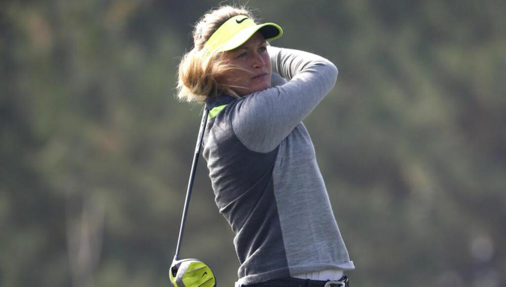 KLATRET: En god tredjerunde førte Suzann Pettersen opp til delt 8.-plass under LPGA-turneringen i sørkoreanske Incheon lørdag. Foto: AP Photo/Lee Jin-man