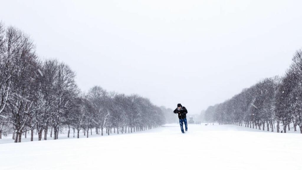 KALDT:  Vi kan vente oss en ekstrem kald vinter, skal vi tro den amerikanske værtjenesten. Foto: Svein Nordrum / NTB scanpix