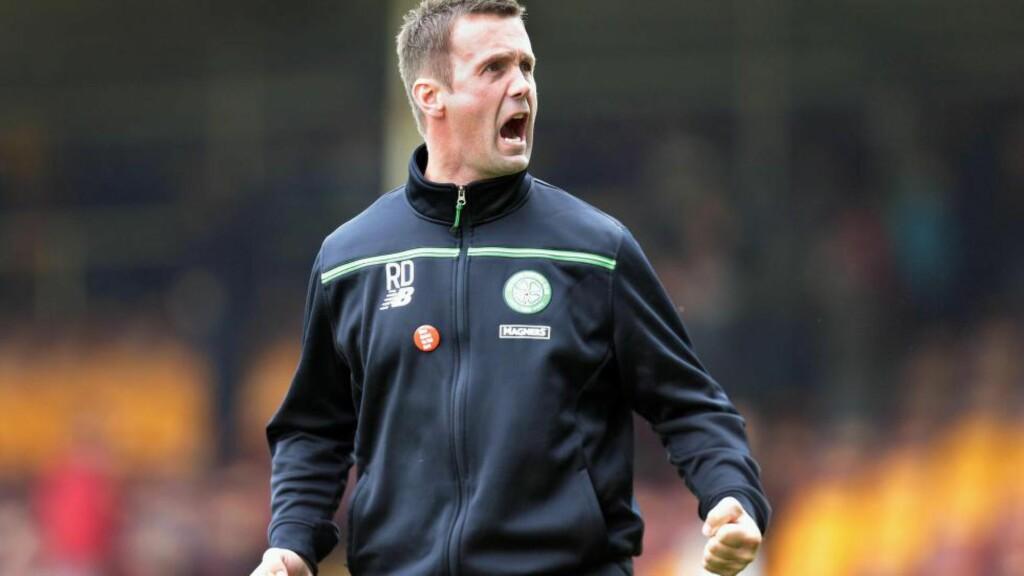 TIL TABELLTOPP: Ronny Deilas Celtic vant 1-0 borte mot Motherwell. Stefan Johansen var verken på banen eller benken på grunn av skade. Foto: Reuters / Graham Stuart
