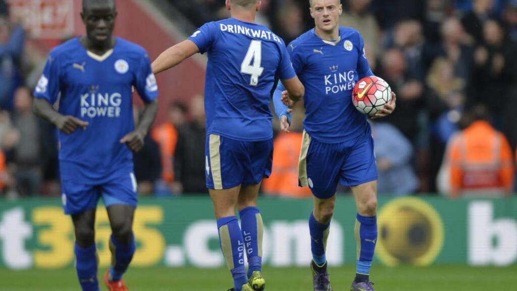 REDDET LEICESTER: Jamie Vardy har vært Premier Leagues mest målkåte spiller denne sesongen. Lørdag reddet spissen poeng for Leicester da han scoret to mål i 2-2-kampen mot Southampton. Foto: Action Images / Adam Holt