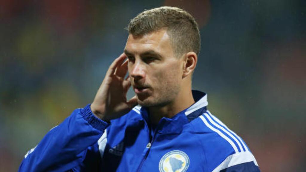 BOSNIAS HELT: Edin Dzeko har på sitt beste vært ustoppelig i både Bundesliga og Premier League. Nå er han i Serie A. Foto: NTB Scanpix