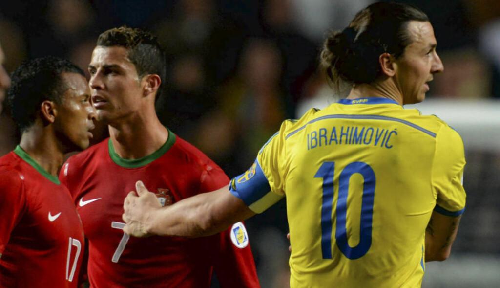 FIKK JULING SIST: Cristiano Ronaldo tok VM-plassen fra Sverige og Zlatan nærmest på egen hånd høsten 2013.  Foto: Jonas Ekströmer / TT / NTB Scanpix
