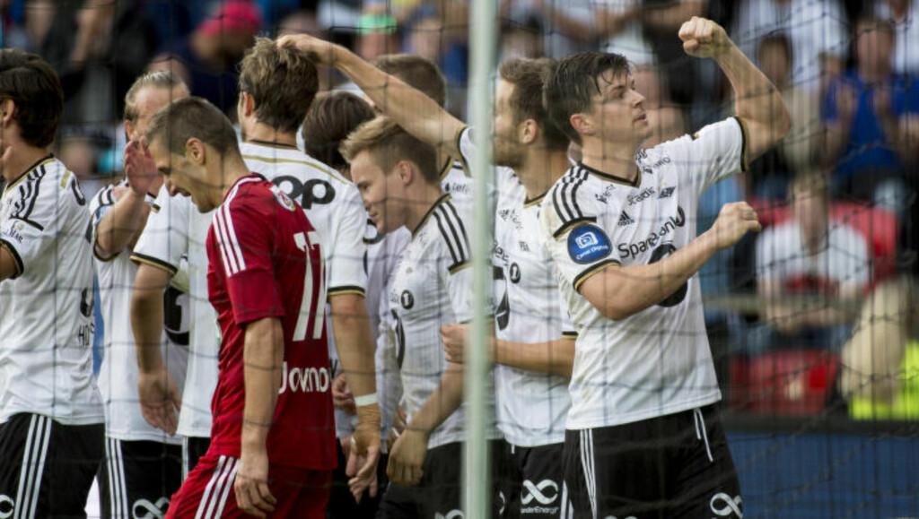 PSYKOLOGISK OVERTAK: Pål André Helland og Rosenborg slo Ungarns beste lag, Debrecen, 6-3 over to kamper i august. Foto: Ned Alley / NTB scanpix