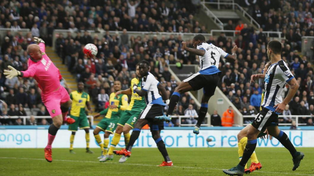 FIRE MÅL: Georginio Wijnaldum scoret hele fire ganger mot Norwich. Foto: Reuters / Lee Smith / NTB Scanpix