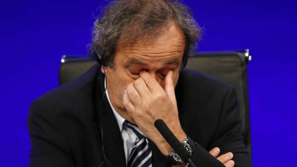 I HARDT VÆR: Michel Platini. Foto: AP /Sang Tan / NTB Scanpix