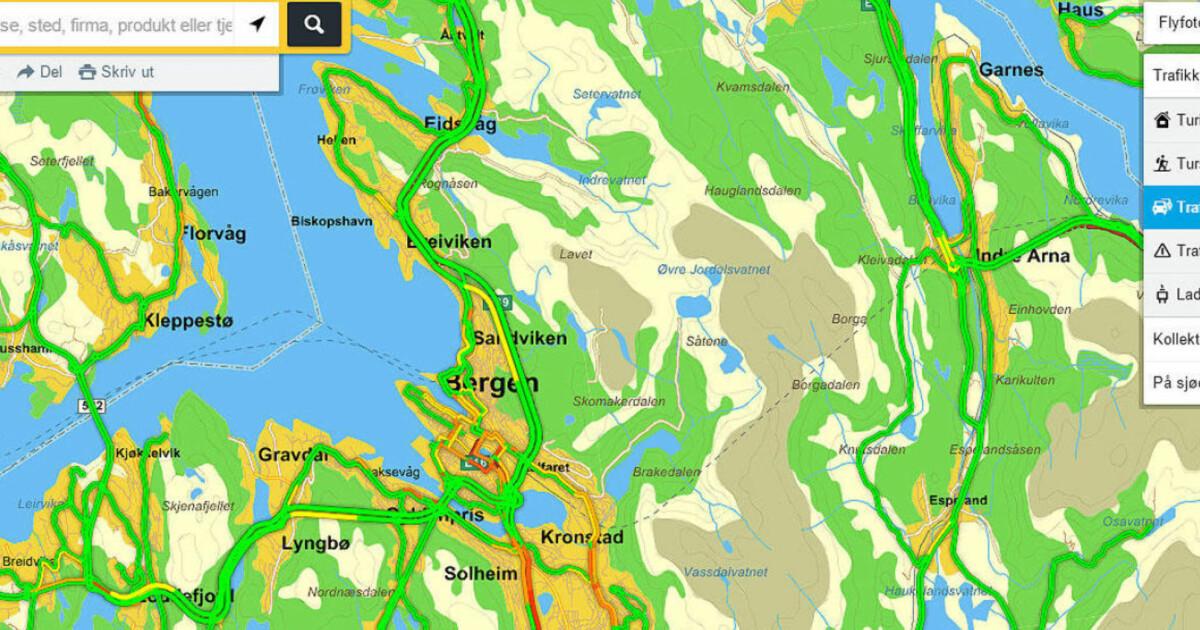 Trafikkflyt Endelig Tilgjengelig Fra Gule Sider Dagbladet