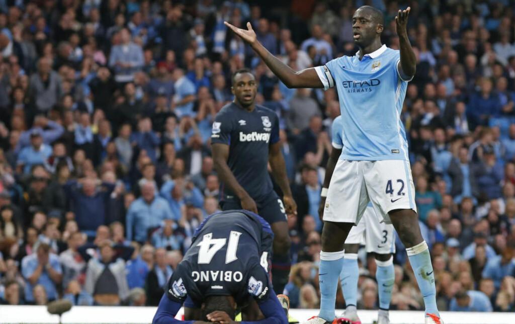 IRRITERT: Manchester Citys Yaya Touré. Foto: Reuters / Phil Noble / NTB Scanpix