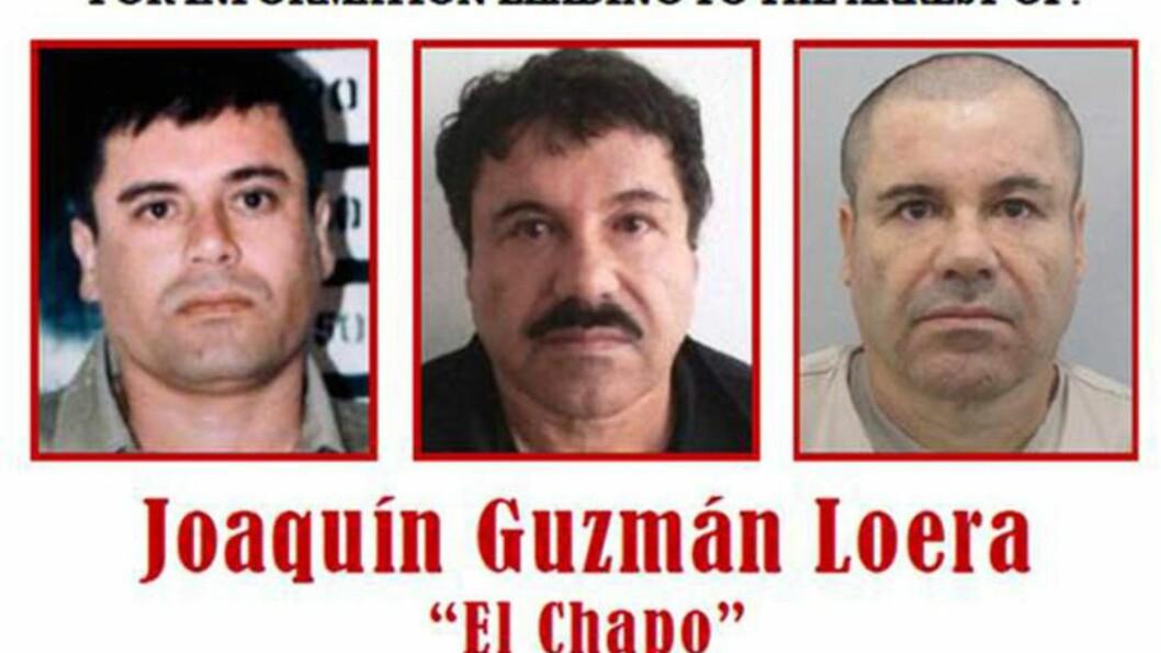 PÅ FLUKT: Lederen for det det meksikanske Sinalo-kartellet, Joaquín «El Chapo» Guzmán (58) rømte fra fengsel i sommer. Han skal ha fått flere skader da militæret og politiet gjennomførte et raid mot ham tidligere denne måneden, men unnslapp nok en gang fra fangenskap.  Foto: DEA / AFP / Scanpix