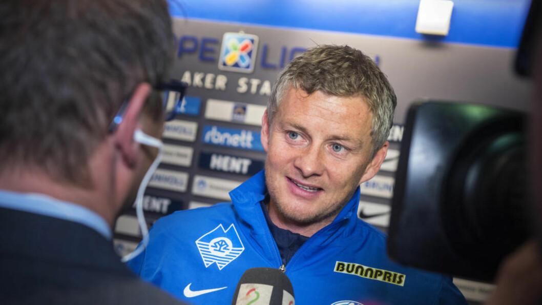 HJEM IGJEN: Ole Gunnar Solskjær brukte tid, men i dag ble han presentert som ny manager i fotballklubben Molde. Foto: Espen A. Istad / NTB scanpix