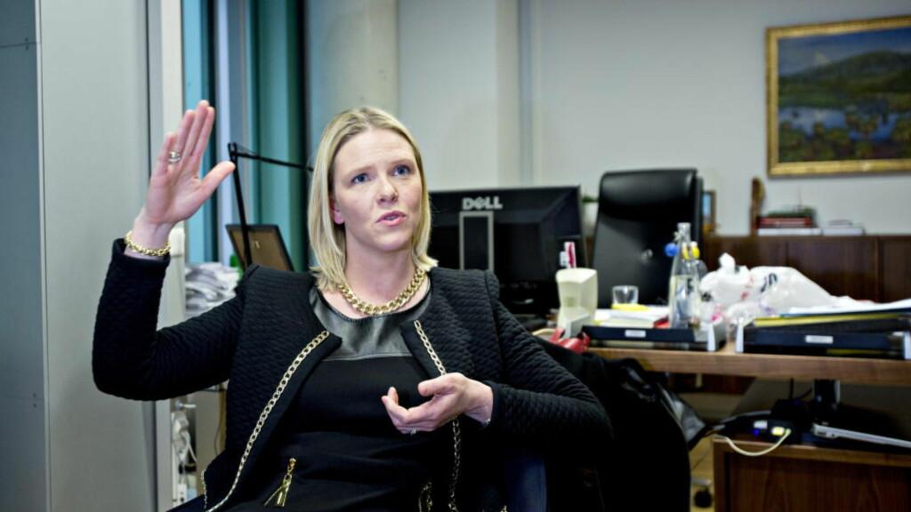 SKOGBRUK: Landbruks- og matminister Sylvi Listhaug bevilger penger til bygging av tømmerkaier. Foto: Torbjørn Berg / Dagbladet