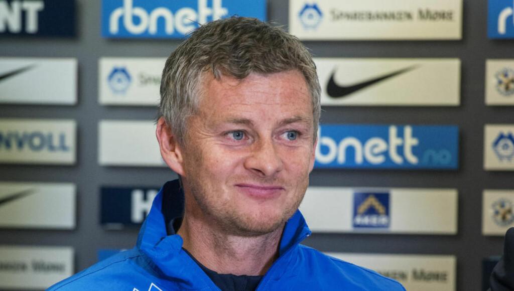 ÅPEN: Ole Gunnar Solskær var både åpen og sprudlende da han møtte pressen i dag. Foto: Espen A. Istad / NTB scanpix