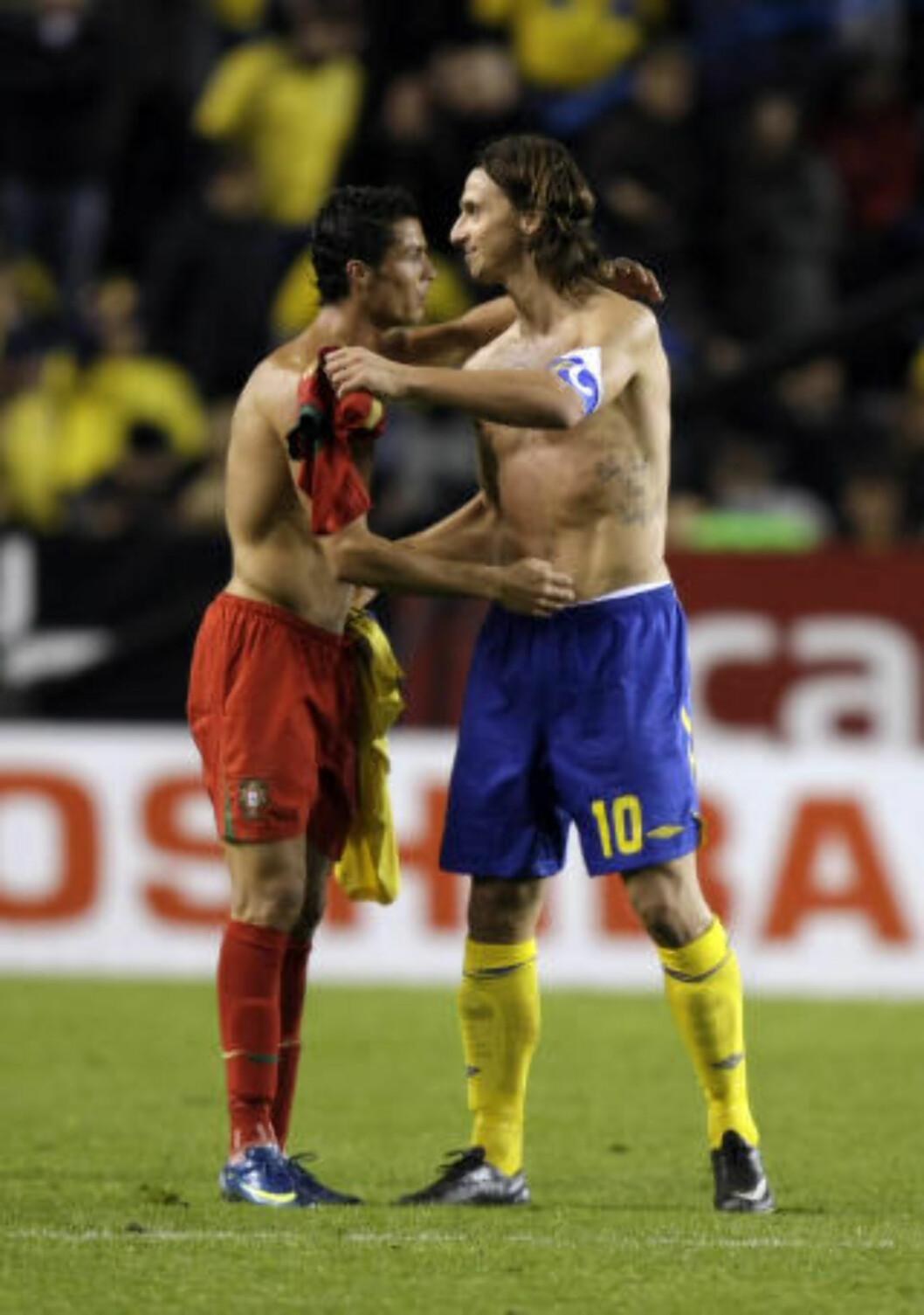 NY DUELL. Det blir en ny duell mellom Ronaldo (t.v.) og Zlatan i Champions League onsdag, når Paris St. Germain tar i mot Real Madrid på Parc des Princes. Foto: AP/NTB/Sancpix.