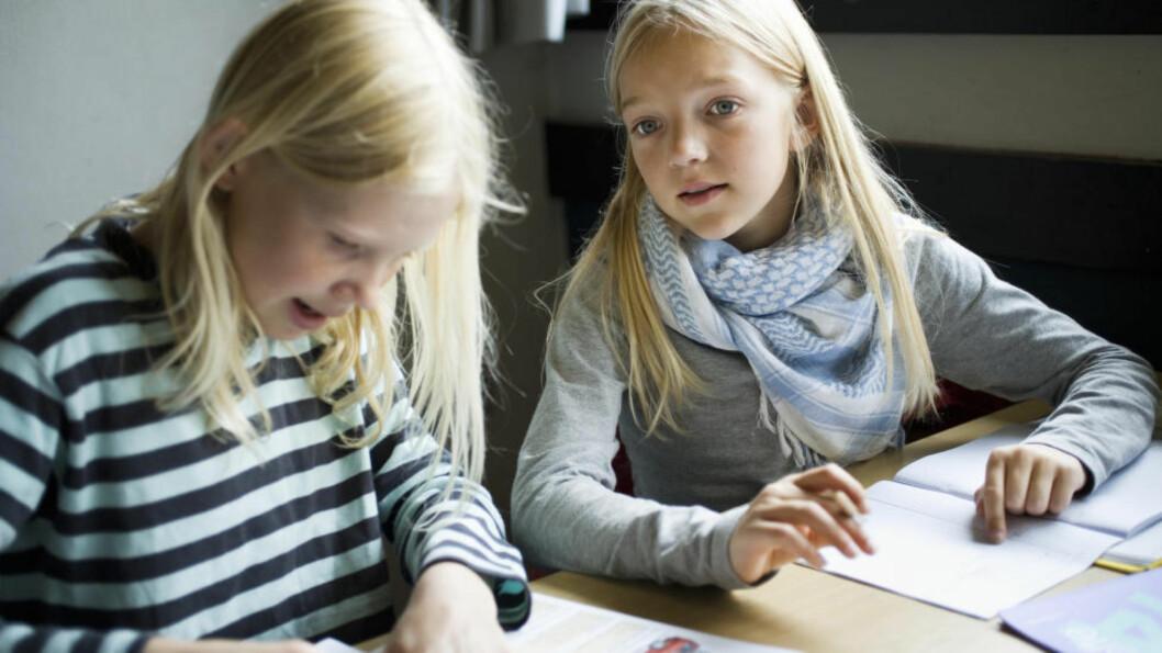 LEKSER: Enkelte elever takler ulike oppgaver som må løses hjemme bedre enn andre. Illustrasjonsfoto: NTB scanpix