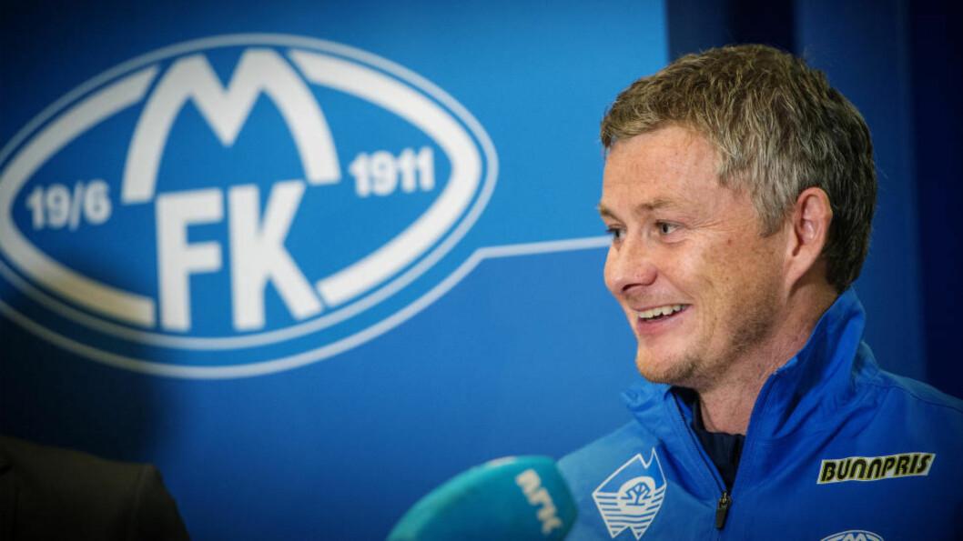 <strong>SPRUDLET:</strong> Ole Gunnar Solskjær sprudlet i sitt første møte med pressen på over et år. Foto: Espen A. Istad / NTB scanpix