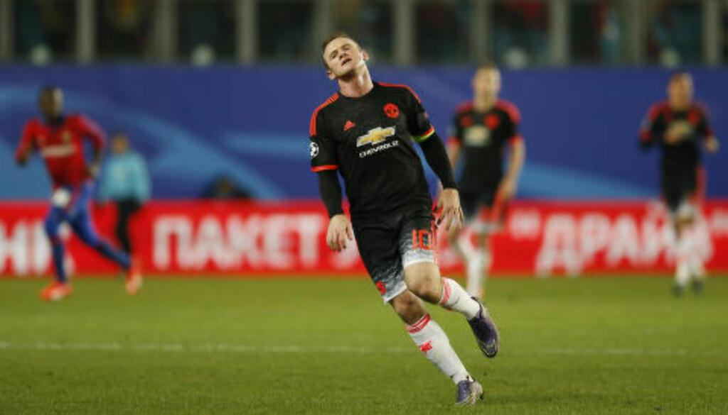 SKUFFET: Wayne Rooney var anonym mot CSKA. Foto: Scanpix