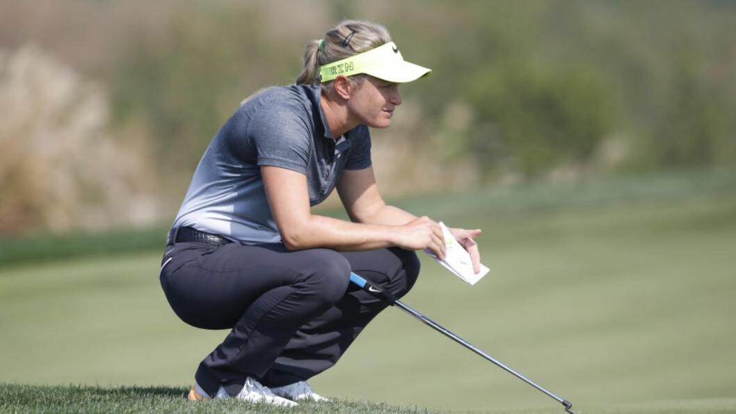 DÅRLIG START: Suzann Pettersen fikk en dårlig start på ukens LPGA-turnering. I taiwanske Taipei gikk hun førsterunden to slag over par. Foto: AP Photo/Lee Jin-man