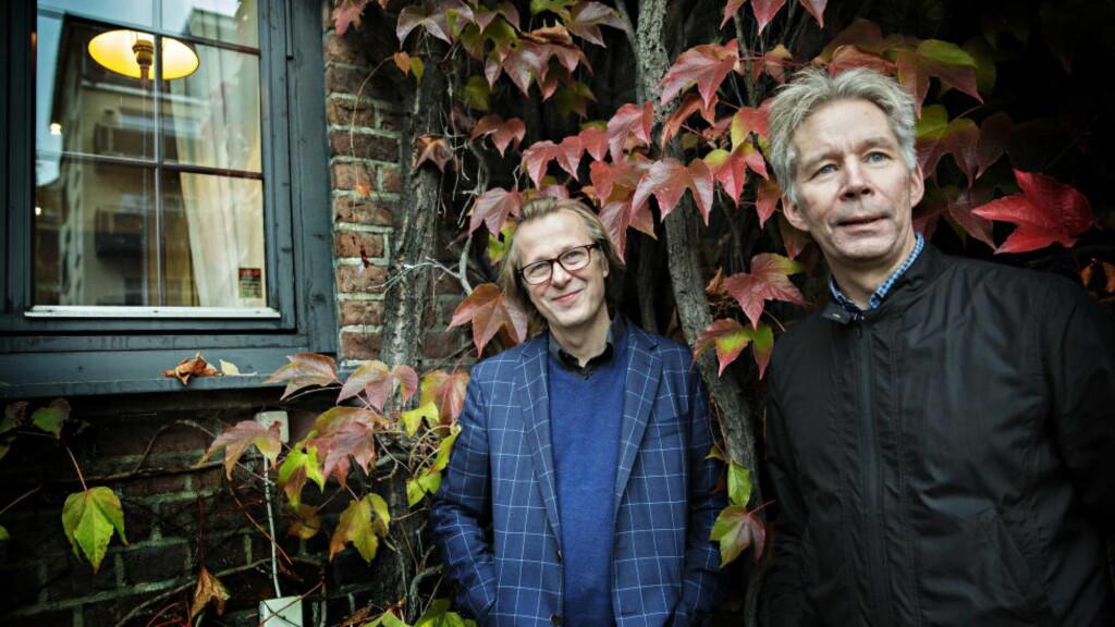 BOKAKTUELLE:  Lars Lillo-Stenberg og Yngve Knausgård har skrevet bok sammen om deLillos 230 sanger. Foto: Nina Hansen / Dagbladet