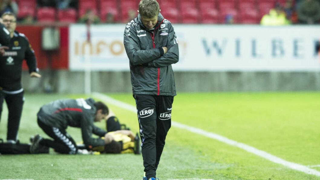 RØD SONE: Sportsklubben Brann er havnet i rød sone og må lage en økonomisk handlingsplan overfor Norges Fotballforbund (NFF).  Foto: Marit Hommedal / NTB scanpix