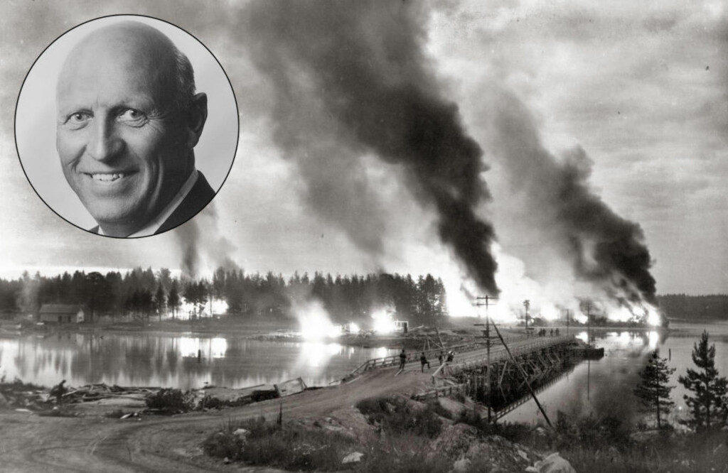 BLODBAD: 193 norske skijegere kjempet på tysk side i Karelen, Østfrontens nordlige del. Under et stort russisk angrep i juni 1944 stupte over 100 norske SS-frivillige. Foto: Suomen Kuvapalvelu / TT / NTB Scanpix