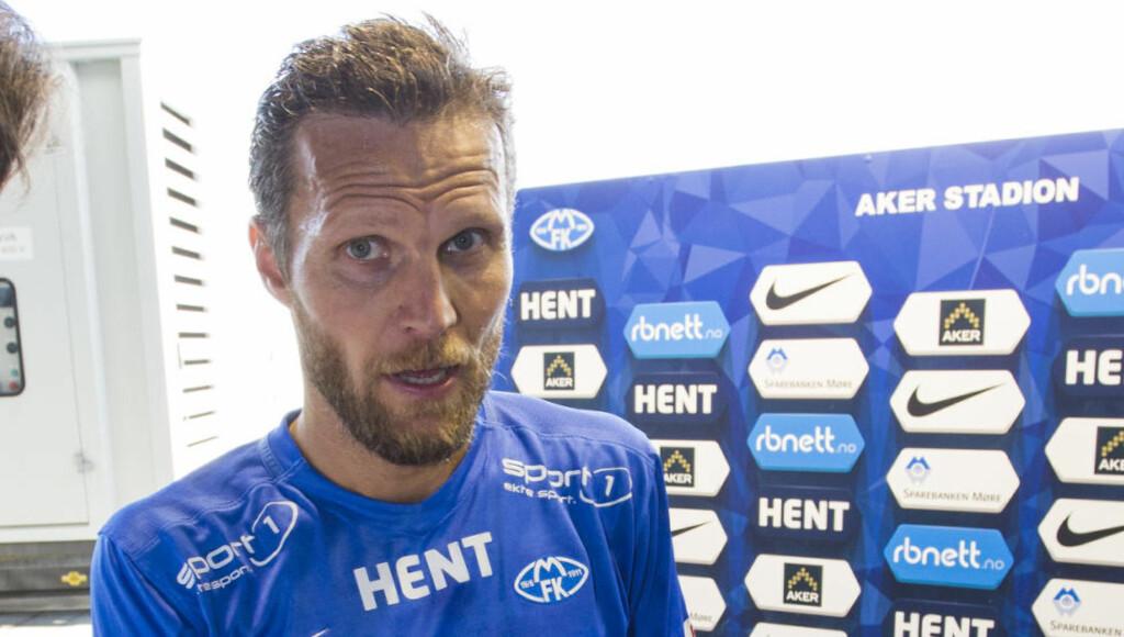KONTRABESKJED: Daniel Berg Hestad åpner for å forlenge karrieren om Molde går videre til Europa League. Foto: Svein Ove Ekornesvåg / NTB scanpix