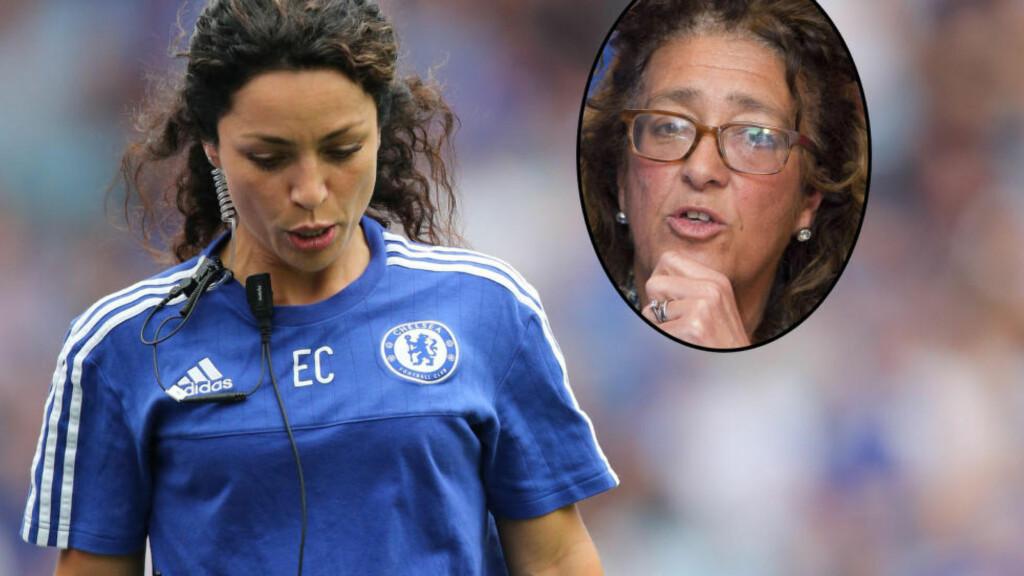 ETTERFORSKES: Heather Rabbatts (innfelt) etterforskes av FA etter at hun støtte Eva Carneiro offentlig, skriver The Times. Foto: BPI/AFP