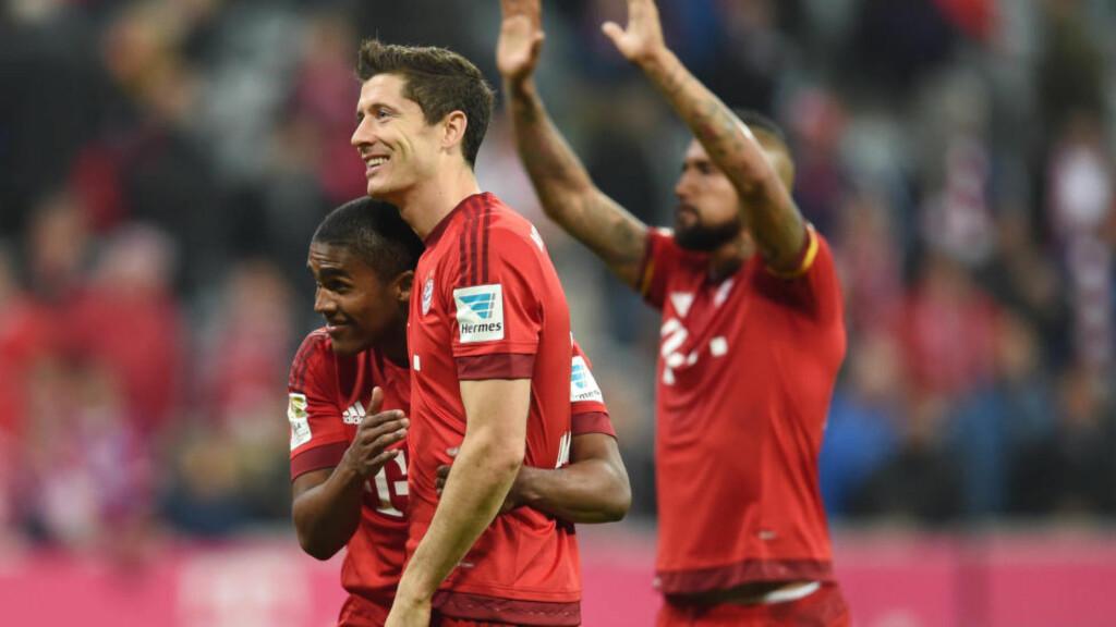 KAN RUNDE 1000 SEIERE: Lørdag kan Bayern München ta sin seier nummer 1000 i Bundesliga-historien. Foto: ANDREAS GEBERT/DPA
