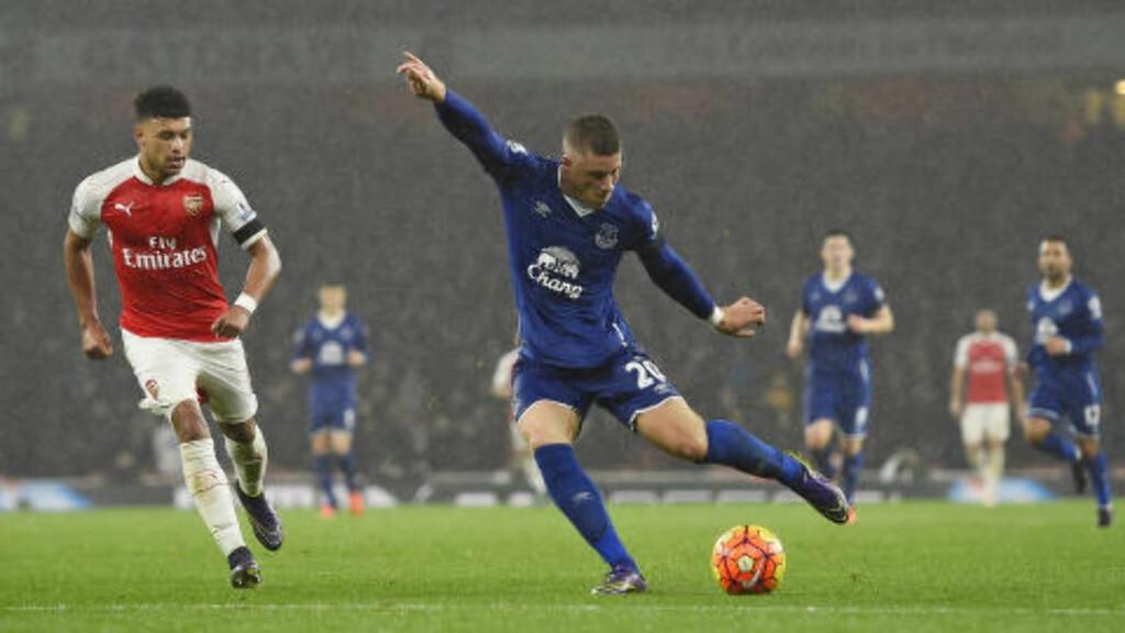 2-1  Ross Barkley reduserer for Everton. Foto: NTB Scanpix