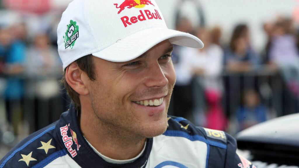 VINNERGLIS:  Andreas Mikkelsen vant i dag sin første VM-seier i rally. Foto: EPA.
