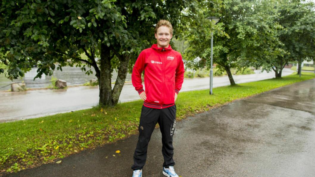 PERSET: Sverre Lunde Pedersen gikk en knallsterk 1000 meter under norgescupstevnet i Sørmarka Arena søndag. 1.10,07 er ny bane- og personlig rekord. Foto: Vegard Wivestad Grøtt / NTB scanpix
