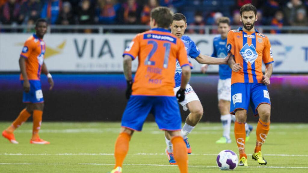 IMPONERTE: Magne Hoseth gjorde en god klubb mot gamleklubben Molde i går. Foto: Svein Ove Ekornesvåg / NTB scanpix