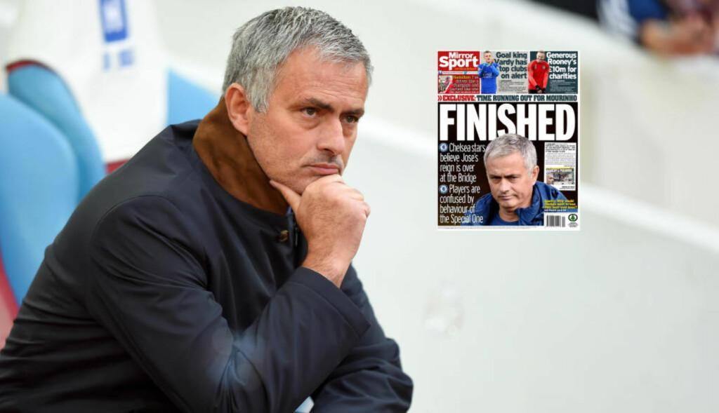 PRESSET:  Jose Mourinho. Foto: NTB Scanpix / Faksimilie The Mirror