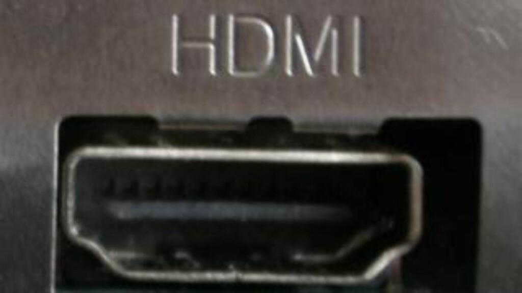 HDMI: Er mye brukt til 4K. Men aller helst skal den være versjon 2.0. Foto: DINSIDE