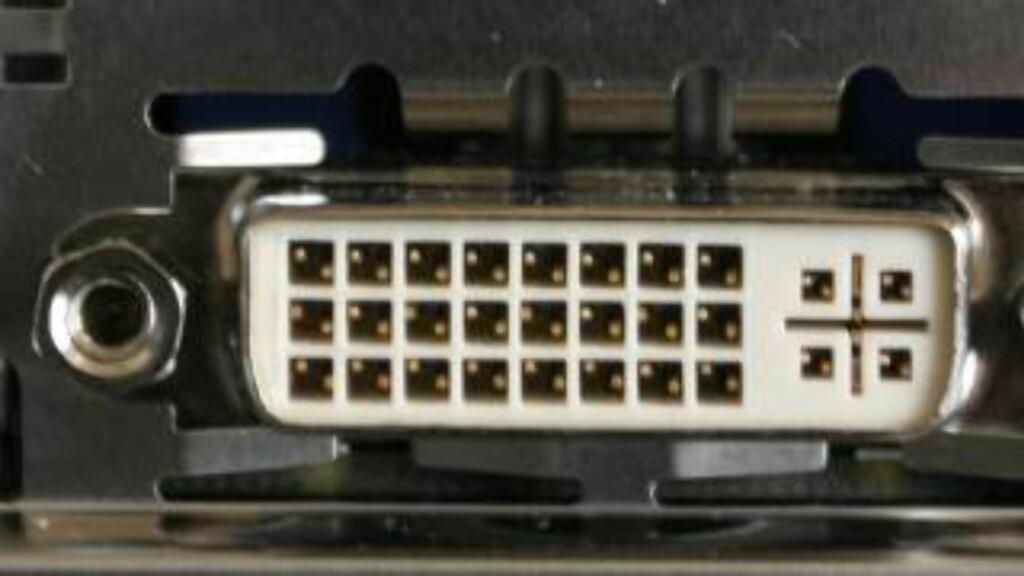 DVI: Kan virke med 4K, men blir sjelden brukt. Foto: DINSIDE