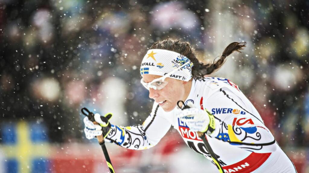 SLÅTT AV YNGRE LAGVENNINNE:  Charlotte Kalla og Stina Nilsson i hemmelig makstest på svensk landslagssamling. Foto: Hans Arne Vedlog  /  Dagbladet