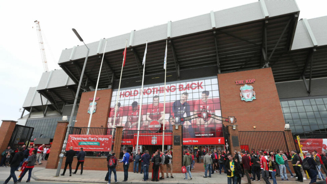 LIVERPOOLS HJEMMEBANE:  Anfield.