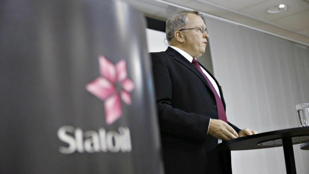 <strong>Eldar Sætre:</strong>  Legger frem dårlige tall for Statoil. Foto: Bjørn Langsem / Dagbladet