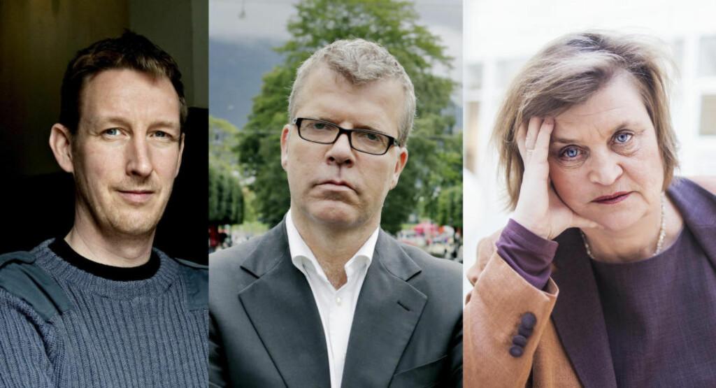 REAGERER: Asle Toje (t.v.) og Jon Hustad boikotter NRK: Elin Ørjasæter forstår reaksjonen godt. Foto: NTB Scanpix / Frida Marie Grande